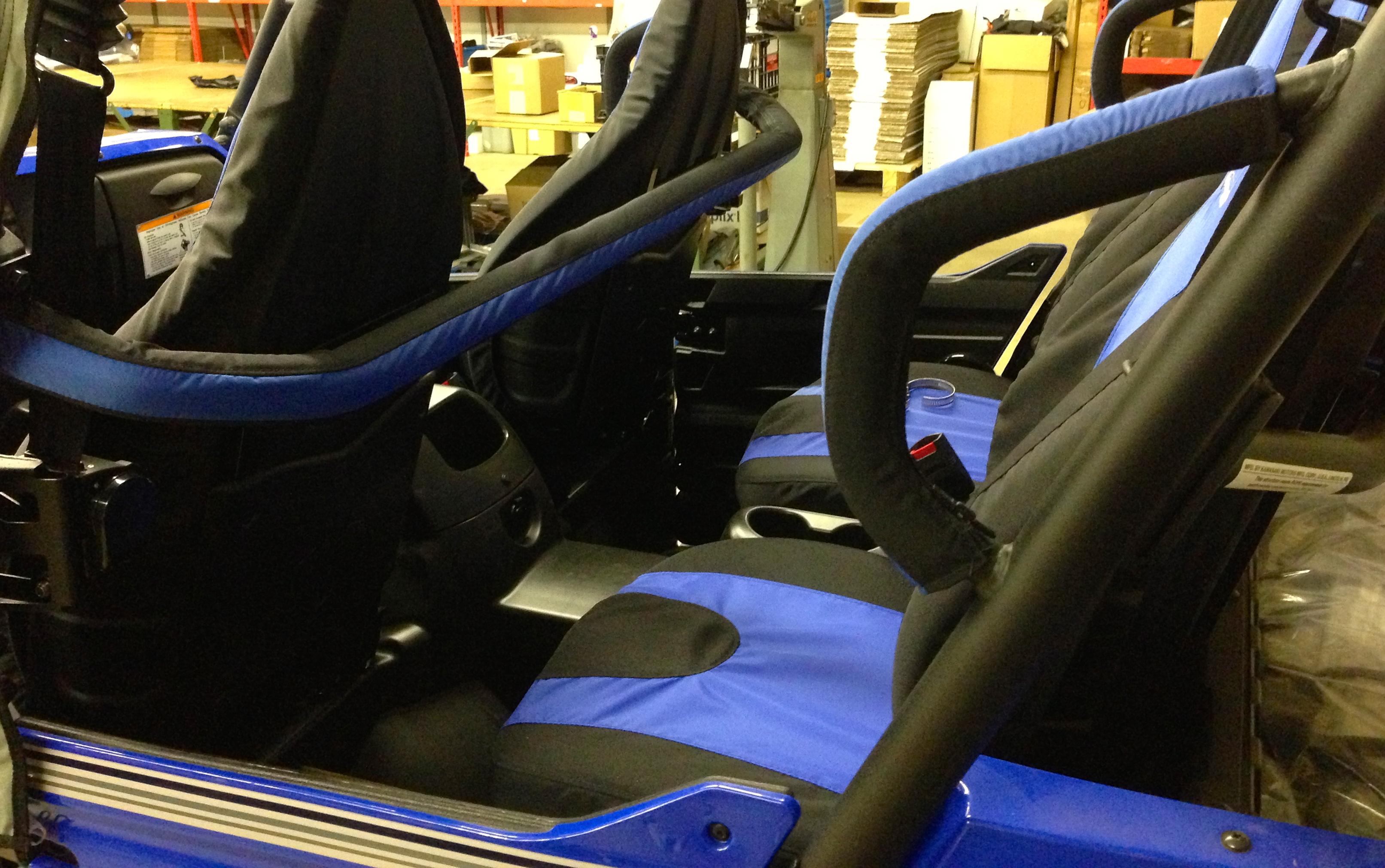 Kawasaki Teryx 2 And 4 Side Bar And Rear Grab Handle Pads