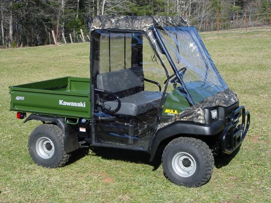 Kawasaki Mule 3000/3010 Full Cab Enclosure - Greene Mountain ...