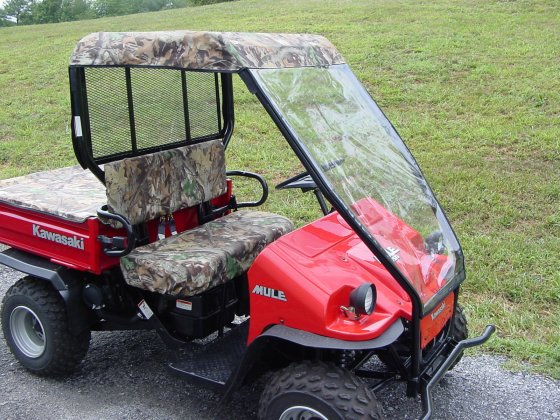 Kawasaki Mule 550 Cab without doors - Greene Mountain Outdoors LLC